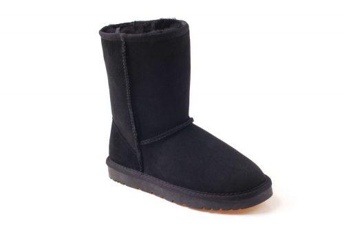 Ozwear Genuine Sheepskin 3/4 Boots - Women's - black, 6.5-7