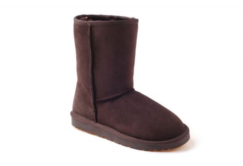Ozwear Genuine Sheepskin 3/4 Boots - Women's - chocolate, 5.5-6