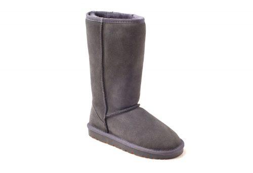 Ozwear Genuine Sheepskin Tall Boots - Men's - charcoal, 10