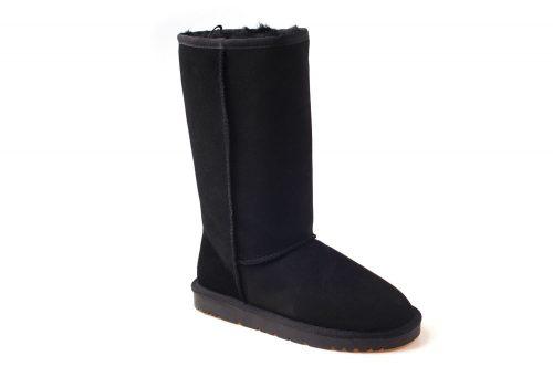 Ozwear Genuine Sheepskin Tall Boots - Women's - black, 10.5-11