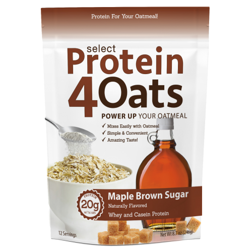 PEScience Select Protein4Oats - 12 Servings Maple Brown Sugar