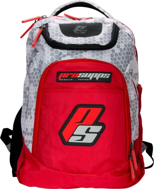 ProSupps Fitness Gear Hex Camo Backpack - Grey/Red 1 Bag