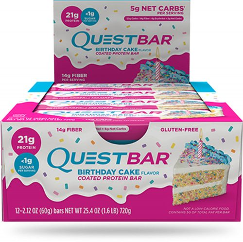 Quest Nutrition Quest Bar - Box of 12 Birthday Cake