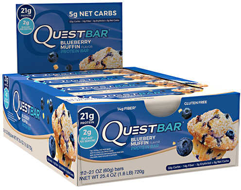Quest Nutrition Quest Bar - Box of 12 Blueberry Muffin