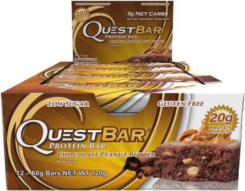 Quest Nutrition Quest Bar - Box of 12 Chocolate Peanut Butter