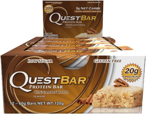 Quest Nutrition Quest Bar - Box of 12 Cinnamon Roll