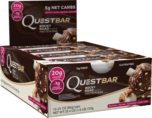 Quest Nutrition Quest Bar - Box of 12 Rocky Road