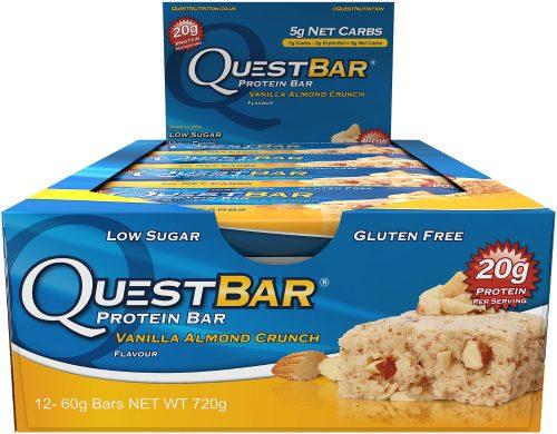 Quest Nutrition Quest Bar - Box of 12 Vanilla Almond Crunch