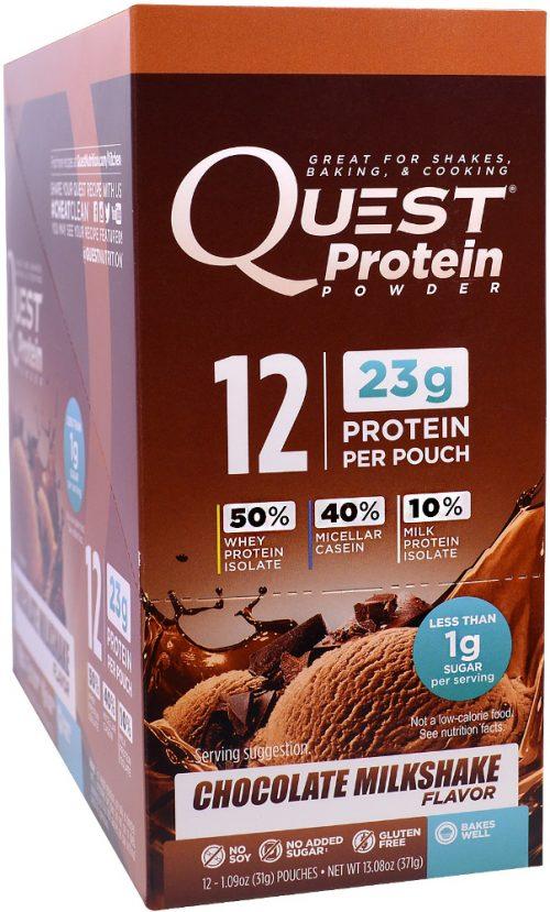 Quest Nutrition Quest Protein Powder - 12 Packets Chocolate Milkshake
