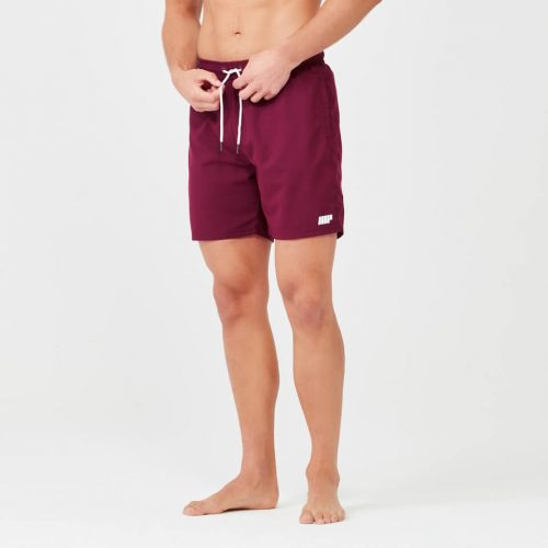 Regular Length Swim Shorts - Burgundy - XL