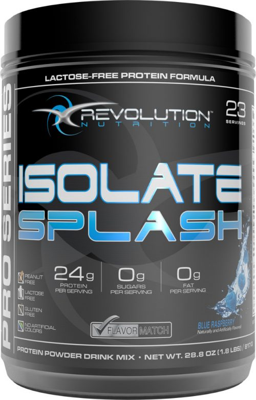 Revolution Nutrition Isolate Splash - 23 Servings Blue Raspberry