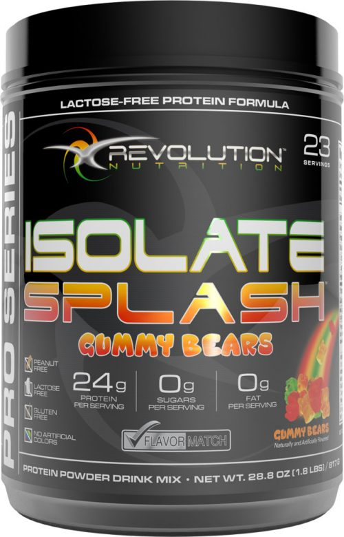 Revolution Nutrition Isolate Splash - 23 Servings Gummy Bears