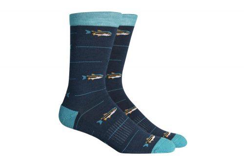 Richer Poorer Angler Hiking Socks - navy multi, one size