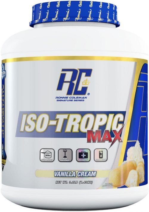Ronnie Coleman Signature Series Iso-Tropic Max - 3.2lbs Vanilla Cream