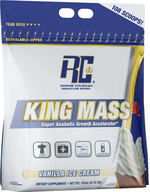 Ronnie Coleman Signature Series King Mass XL - 15lbs Vanilla Ice Cream