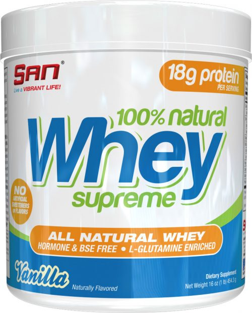 SAN 100% Natural Whey - 1lb Vanilla