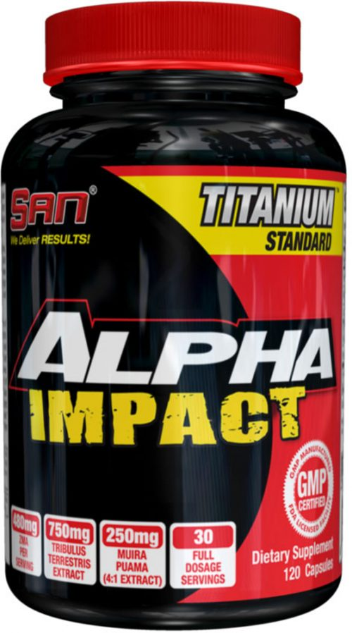 SAN Alpha Impact Testosterone Booster - 120 Capsules