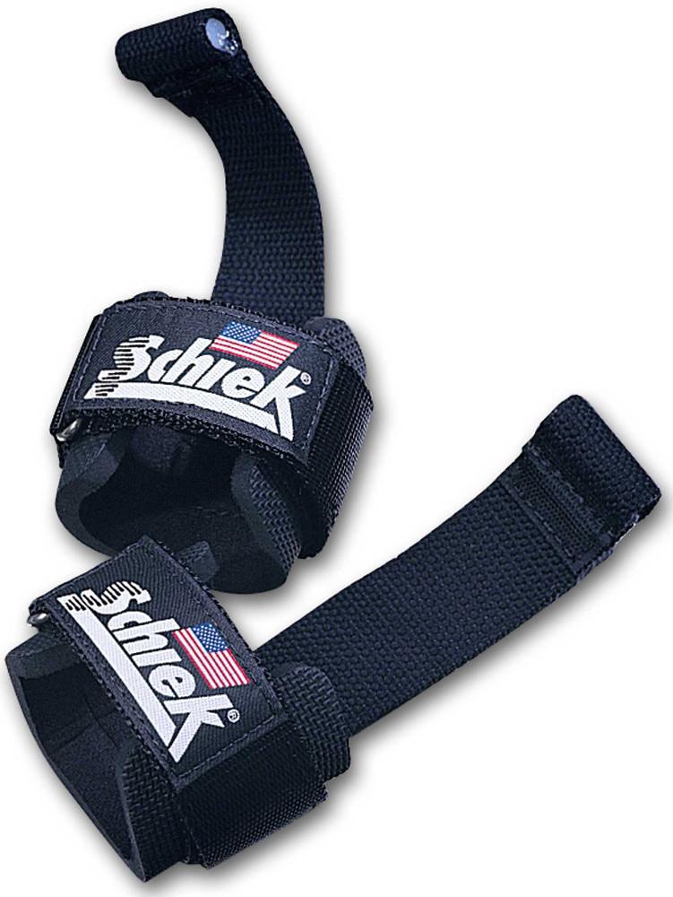 Schiek Sports Model 1000DLS Dowel Lifting Straps - One Size Red