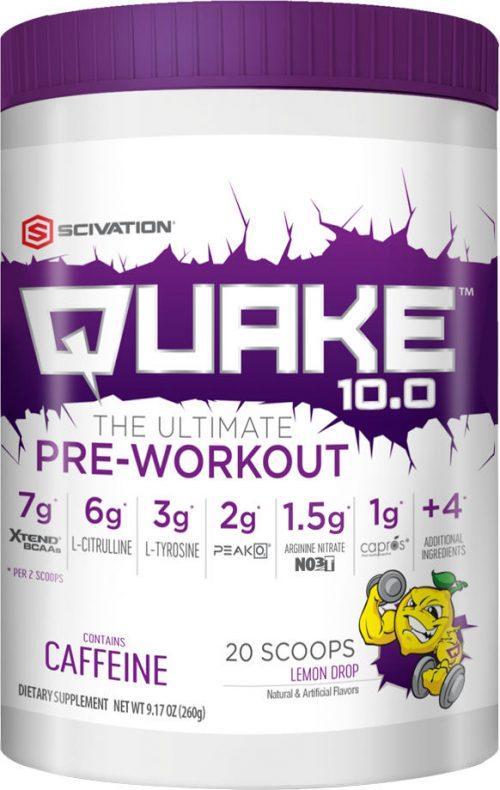 Scivation Quake 10.0 - 20 Servings Lemon Drop
