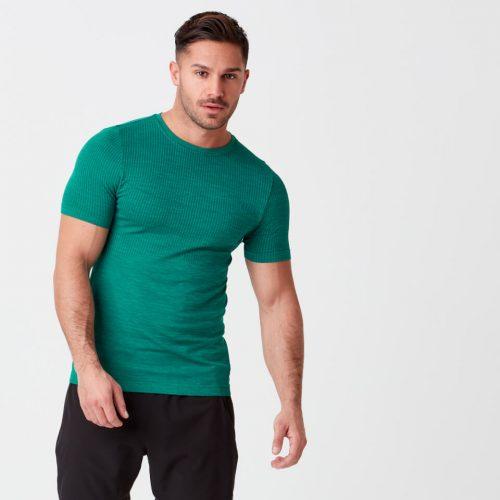 Sculpt Seamless T-Shirt - Green - XS