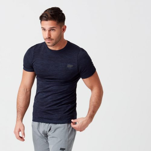 Sculpt Seamless T-Shirt - Navy - XS