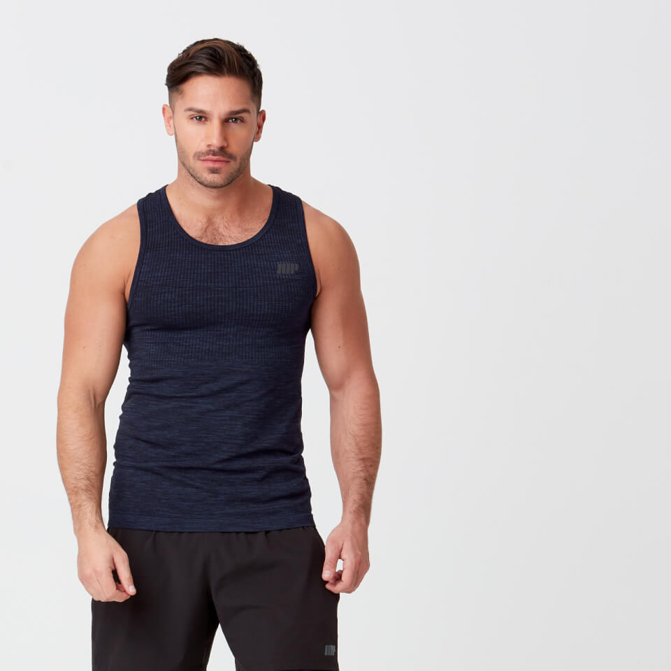 Sculpt Seamless Tank - Navy - M