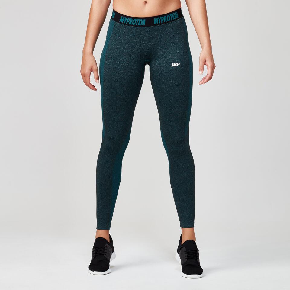 Seamless Leggings - Marble Green - XL