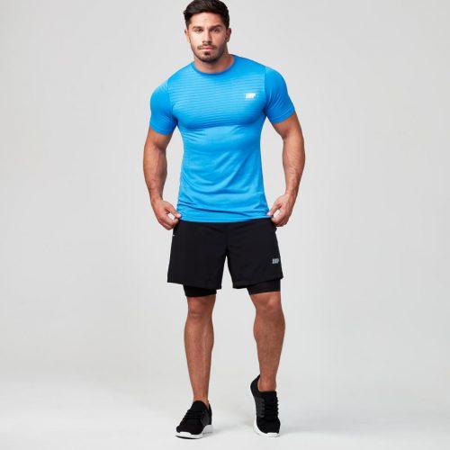 Seamless Short Sleeve T-Shirt - Dark Blue - XXL