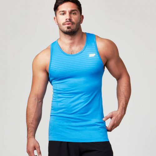 Seamless Tank Top - Dark Blue - L