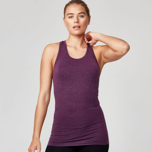 Seamless Vest - Dark Berry - L