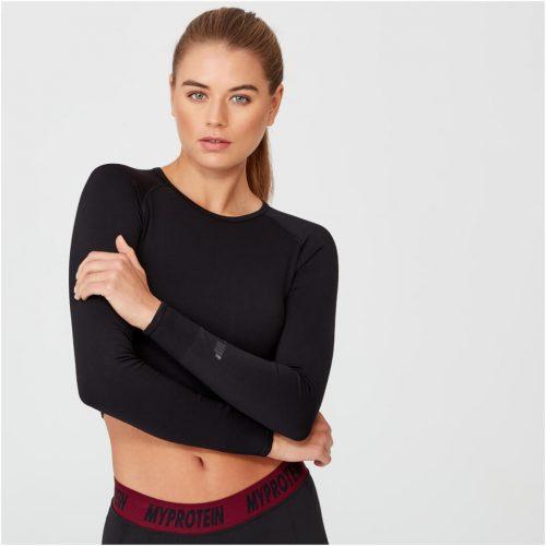 Shape Seamless Crop Top - Black - S