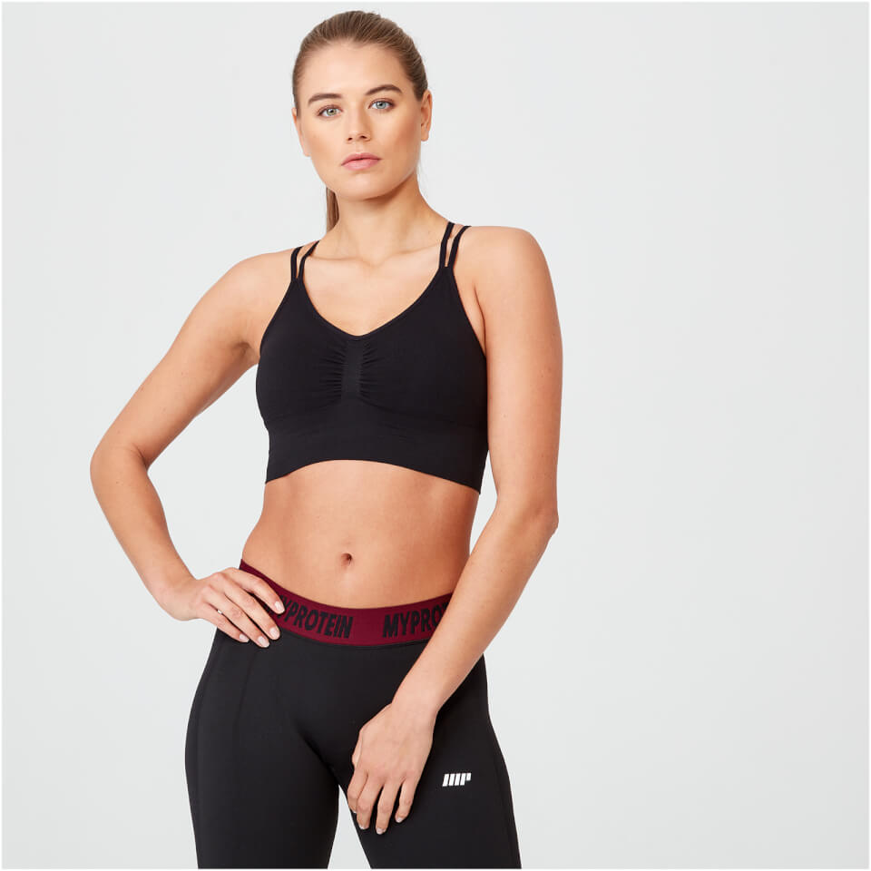 Shape Seamless Sports Bra - Black - XL