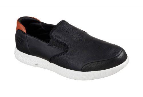 Skechers Leather Slip Ons - Men's - black, 11