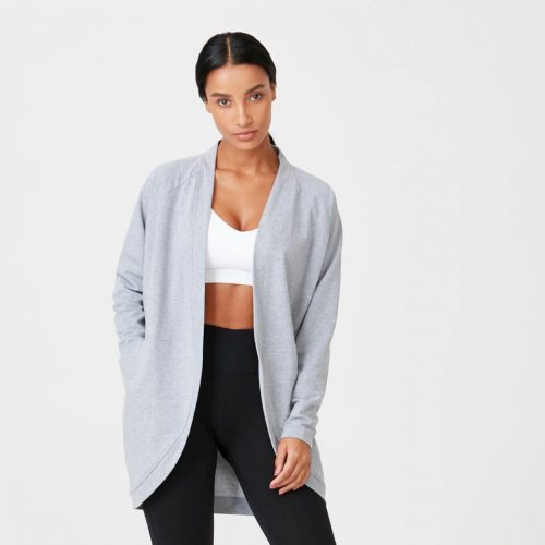 Superlite Cardigan - Grey Marl - XS