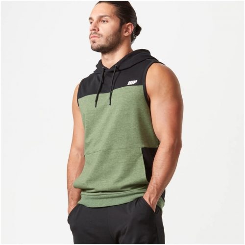 Superlite Sleeveless Zip-Up Hoodie - Khaki - S