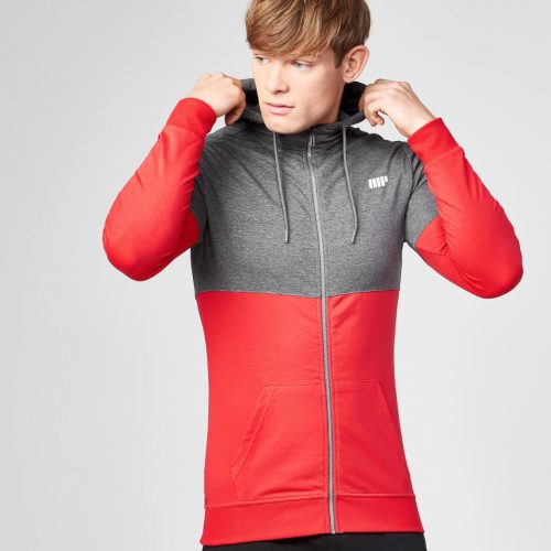 Superlite Zip-Up Hoodie - Red - L