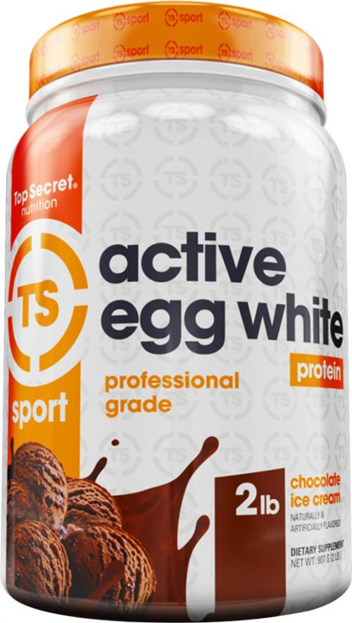 Top Secret Nutrition Active Egg White Protein - 2lbs Chocolate Ice Cre