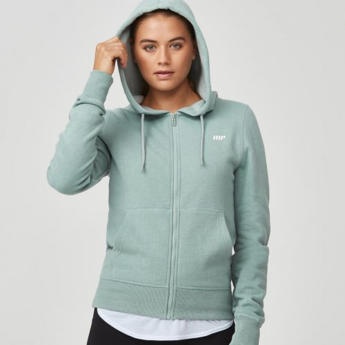 Tru-Fit Zip Up Hoodie - Khaki Marl - M