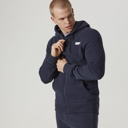 Tru-Fit Zip Up Hoodie - Navy - XS