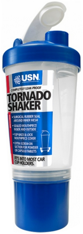 USN Tornado Shaker - 20oz Bottle Clear/Blue