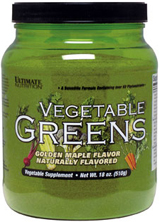 Ultimate Nutrition Vegetable Greens - 510g Golden Maple