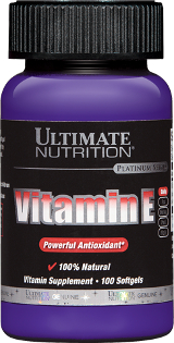 Ultimate Nutrition Vitamin E - 100 Softgels