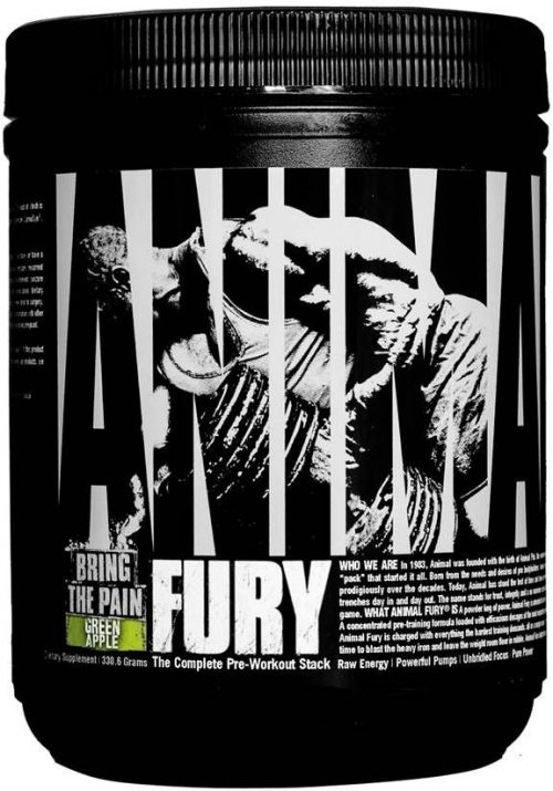 Universal Nutrition Animal Fury - 20 Servings Green Apple