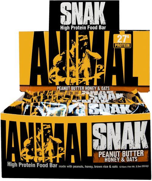 Universal Nutrition Animal Snak Bars - Box of 12 Peanut Butter Honey &