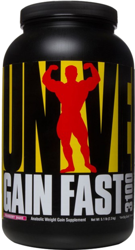 Universal Nutrition Gain Fast 3100 - 5.1lbs Strawberry Shake