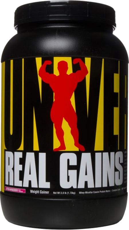 Universal Nutrition Real Gains - 3.8lbs Strawberry Ice Cream