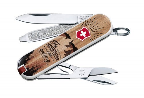 Victorinox Swiss Army Classic SD Pocket Knife - mountains are calling, one size