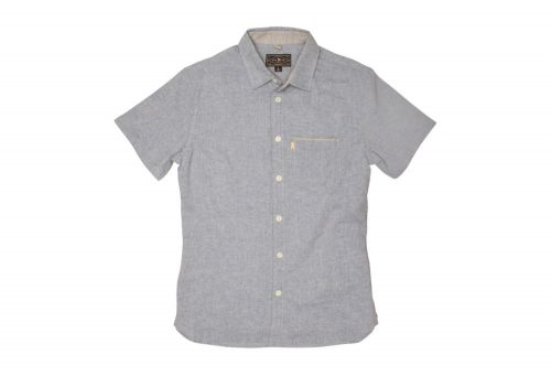 Wilder & Sons Burnside Short Sleeve Button Down Shirt - Men's - light blue, x-large