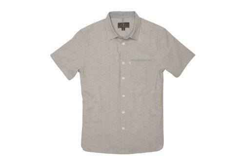 Wilder & Sons Burnside Short Sleeve Button Down Shirt - Men's - stone, medium