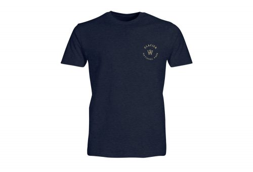 Wilder & Sons Glacier National Park Tee - Men's - navy heather, small